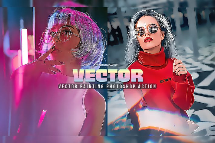 Thumbnail for Vector Painting Photoshop Action