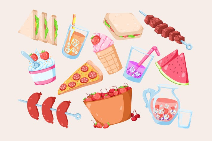 Thumbnail for Summer Treats Clipart