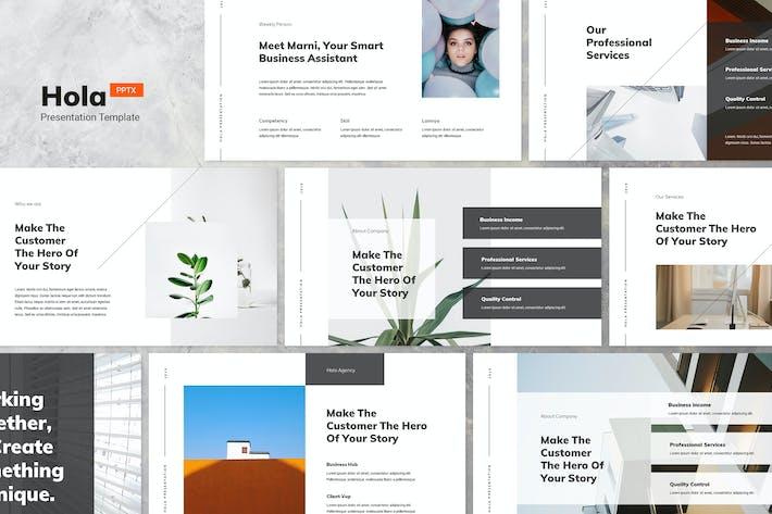 Thumbnail for Hola - Minimal & Creative Powerpoint Template