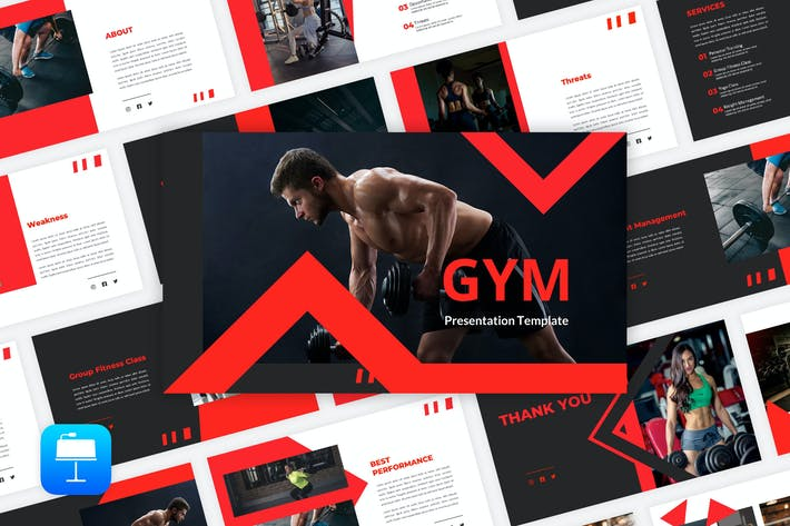 Thumbnail for Gym - Fitness Keynote Template