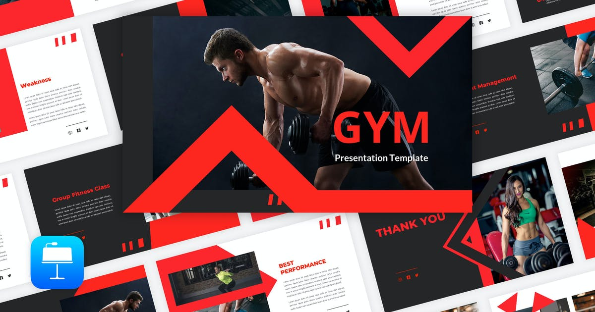 Download Gym - Fitness Keynote Template by Graphiqa