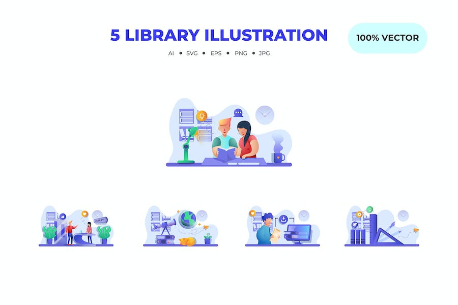 Library Illustrations