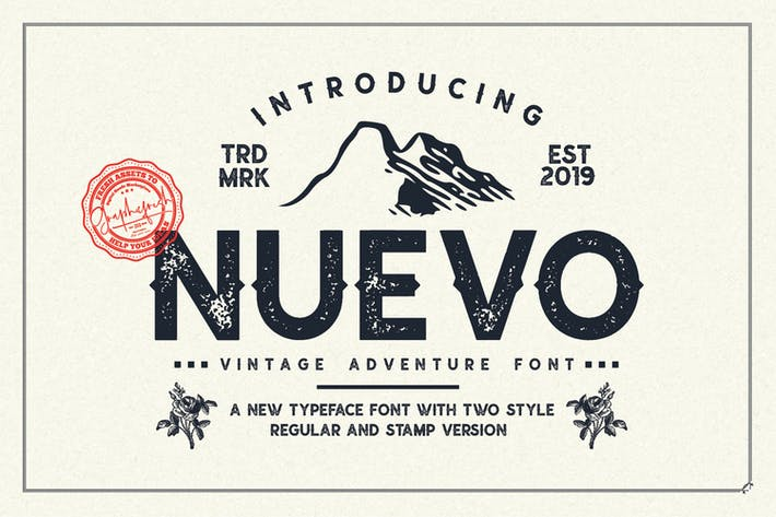 Thumbnail for Nuevo - Vintage Adventure Font