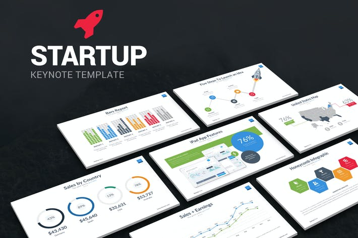 Download presentation templates envato elements thumbnail for startup keynote template toneelgroepblik Images