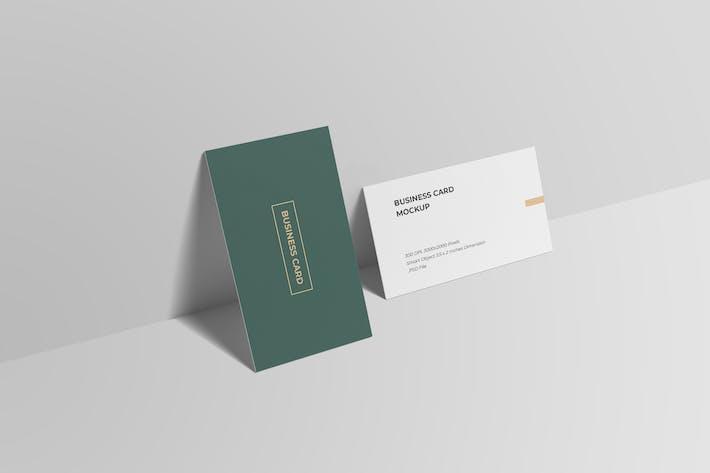 Business Card Mockup High Angle View