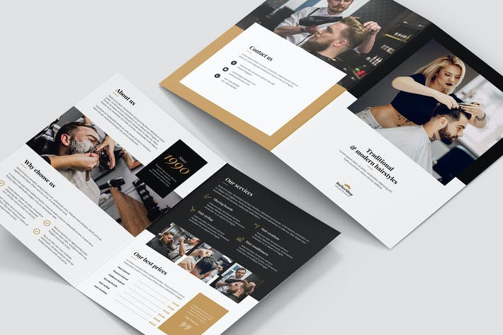 Thumbnail for Brochure – Barber Shop Bi-Fold