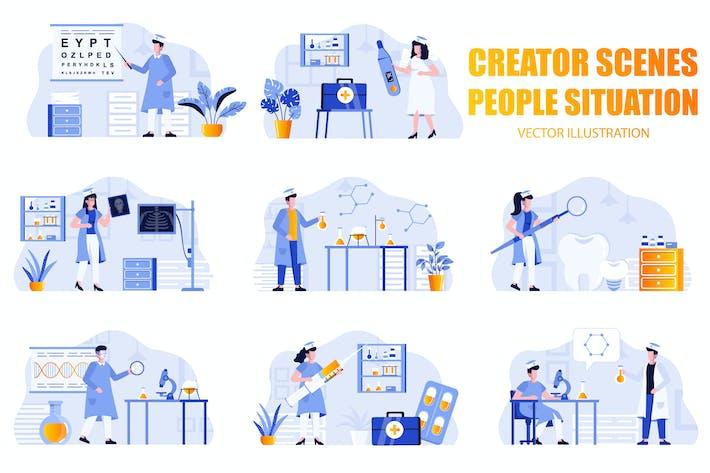 Thumbnail for Medicine People Character Scene Creator Kit