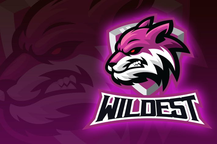 Thumbnail for Wolf Head Esport Logo