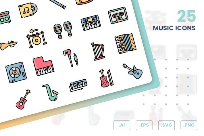 Thumbnail for Music Icons Set