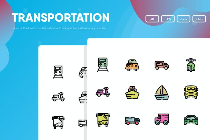 Thumbnail for Transportation Icon Pack