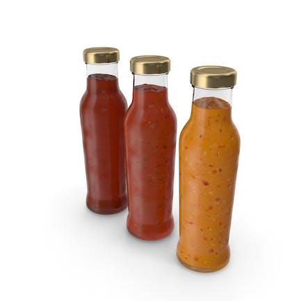 Barbecue Saucen Flaschen