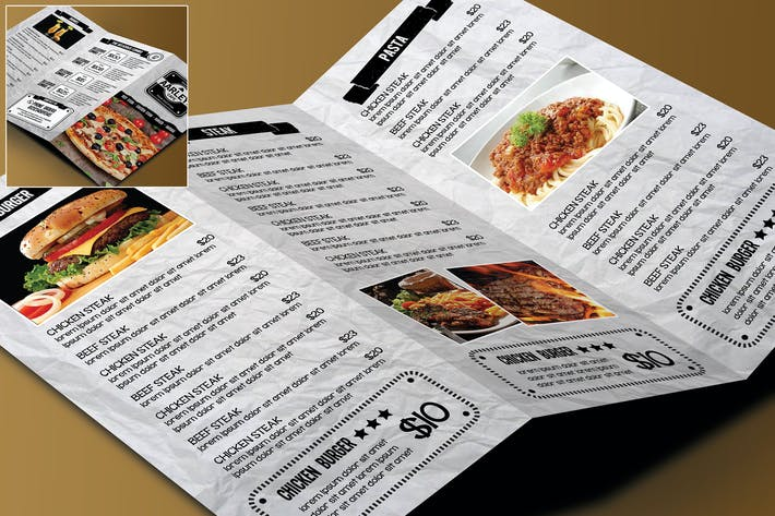 Thumbnail for Trifold Restaurant Menu