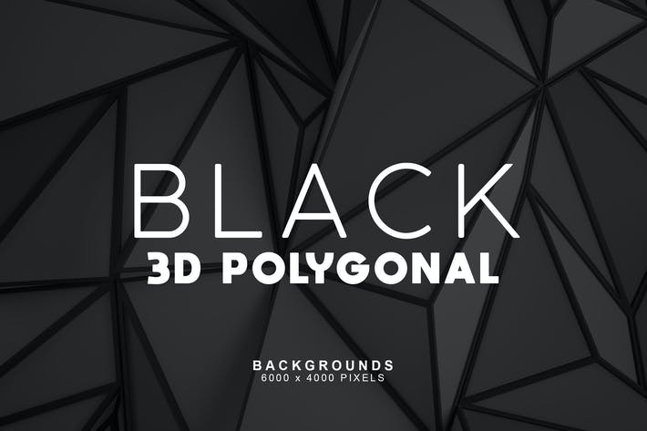Thumbnail for Black 3D Polygonal Backgrounds