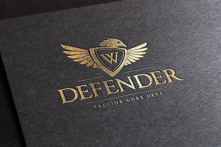Cover Image For Defender Logo Template