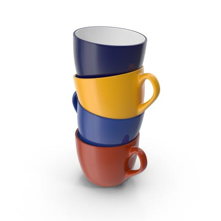 Mehrfarbige Stapel Kaffeetassen
