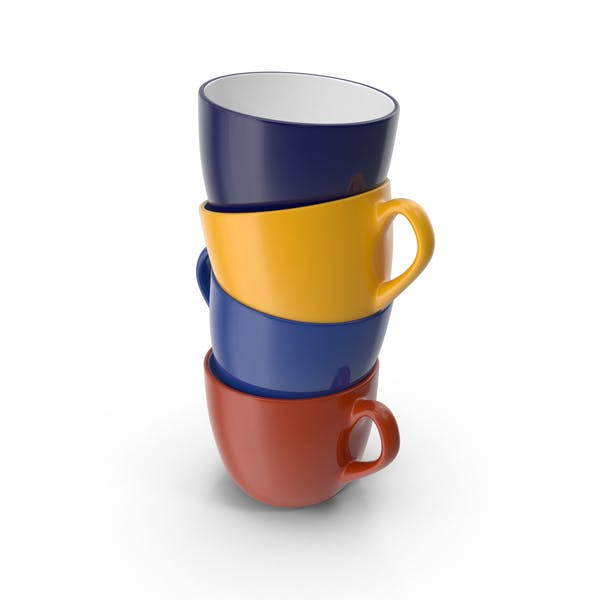 Thumbnail for Multicolored Stack of Coffee Cups