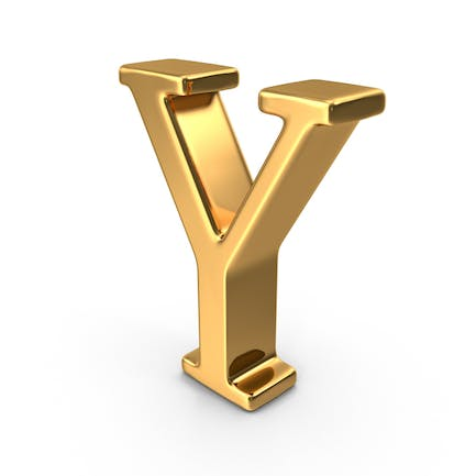 Gold Capital Letter Y