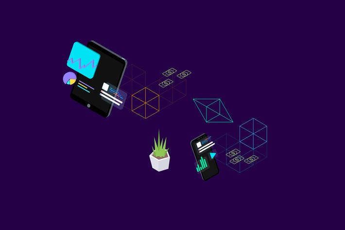 Thumbnail for Blockchain Platform Isometric Illustration 2
