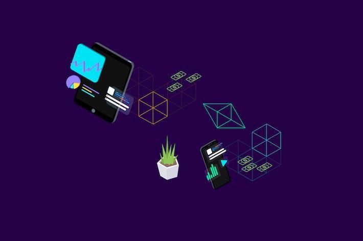 Thumbnail for Blockchain-Plattform Isometrische Abbildung 2