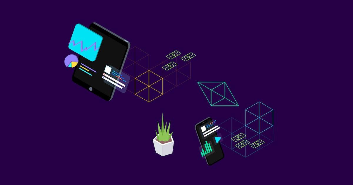 Download Blockchain Platform Isometric Illustration 2 by angelbi88