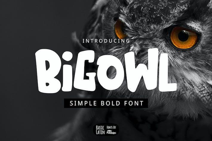 Thumbnail for Big Owl Font