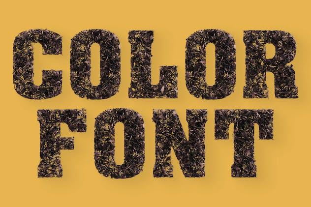 Chocolate Parings - Color SVG Font