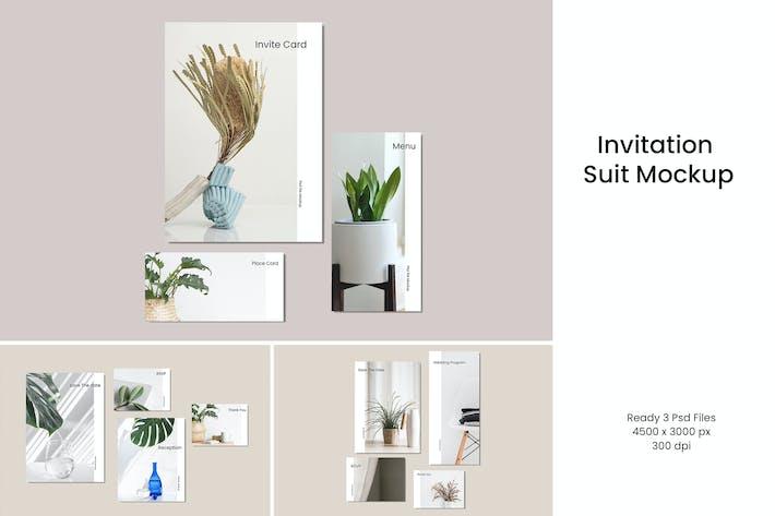 Thumbnail for Invitation Suit Mockup