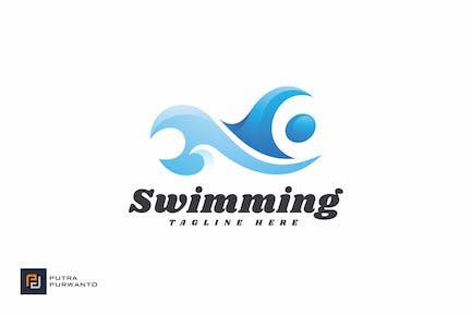 Schwimmen - Logovorlage