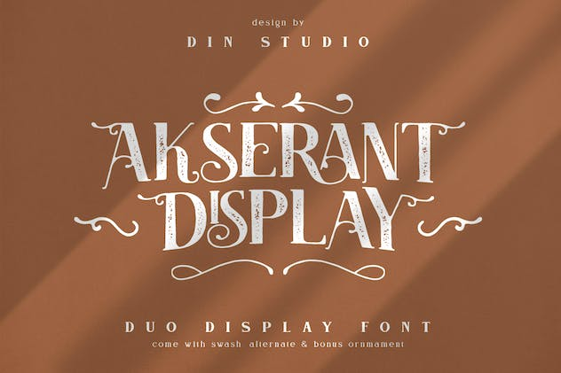 Akserant Display Font - product preview 0