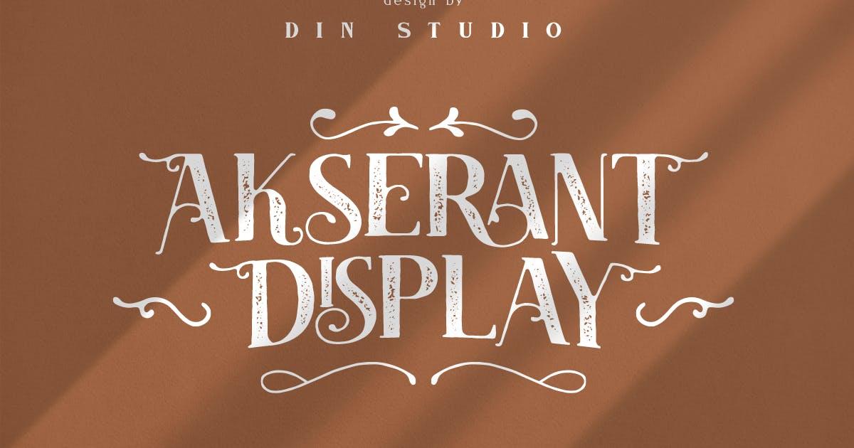 Download Akserant Display Font by Din-Studio