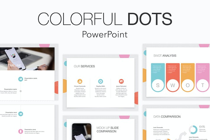 Thumbnail for Colorful Dots PowerPoint Template