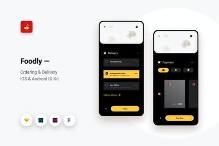 Foodly - Ordering Delivery iOS & Android UI Kit 4