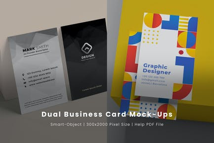 Dual Business Card Mock-Ups