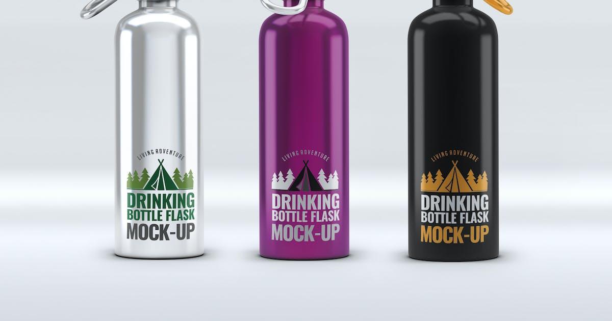 Download Drinking Bottle Flask Mock-Up by L5Design