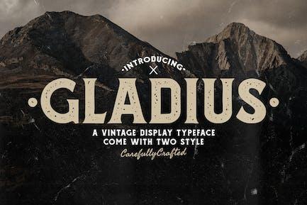 Tipo de letra de visualización vintage Gladius