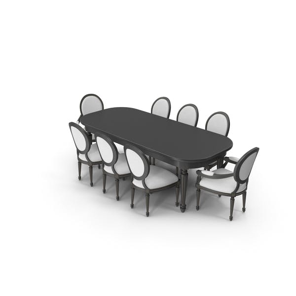 Dining Table Set for 8 Persons