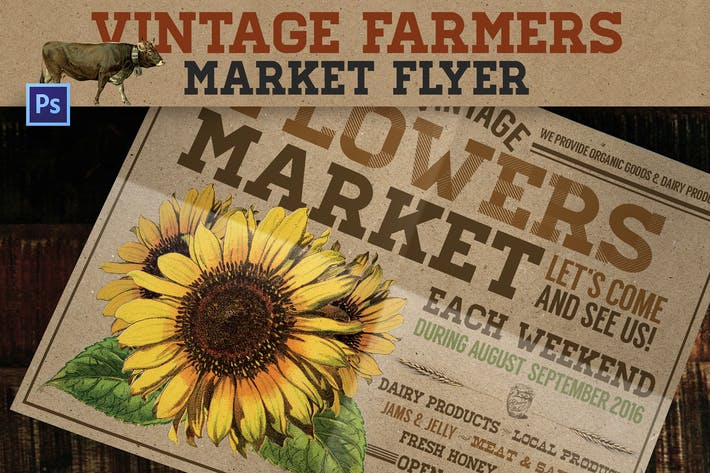 Thumbnail for Vintage Farmers Market Flyer