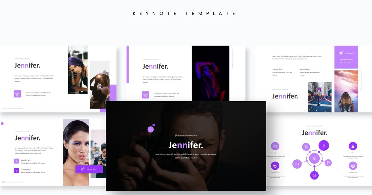 Download Jennifer - Keynote Template by aqrstudio
