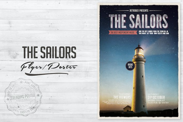 Thumbnail for The Sailors Flyer Poster