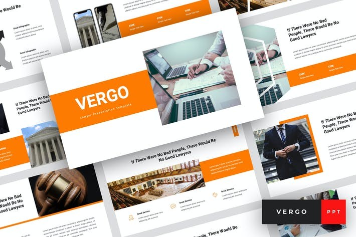 Thumbnail for Vergo - Lawyer PowerPoint Template