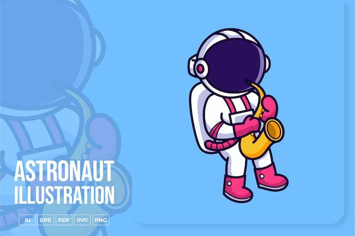 Thumbnail for Astronaut spielt Saxophon