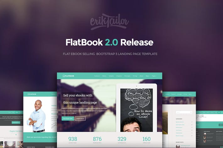 flatbook flat ebook selling html template by eriktailor on envato