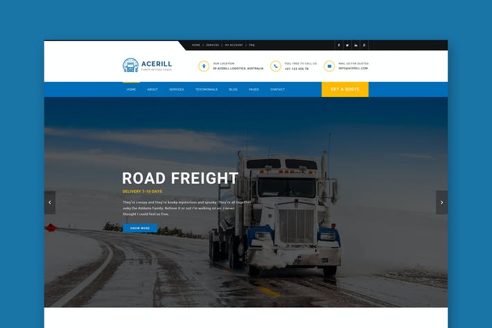 Thumbnail for Acerill - Transport & Logistics PSD Template