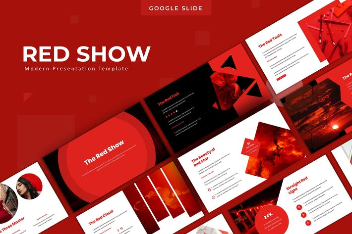 Thumbnail for The Red Show - Google Slide Template
