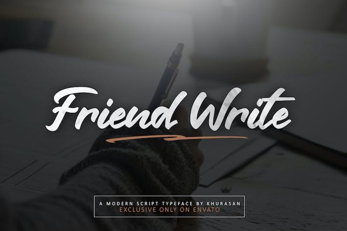 Escribe un amigo