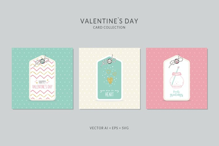 Thumbnail for Valentines Day Card Vector Set