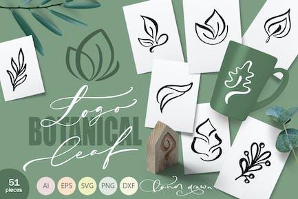 Logo Botanisches Blatt SVG