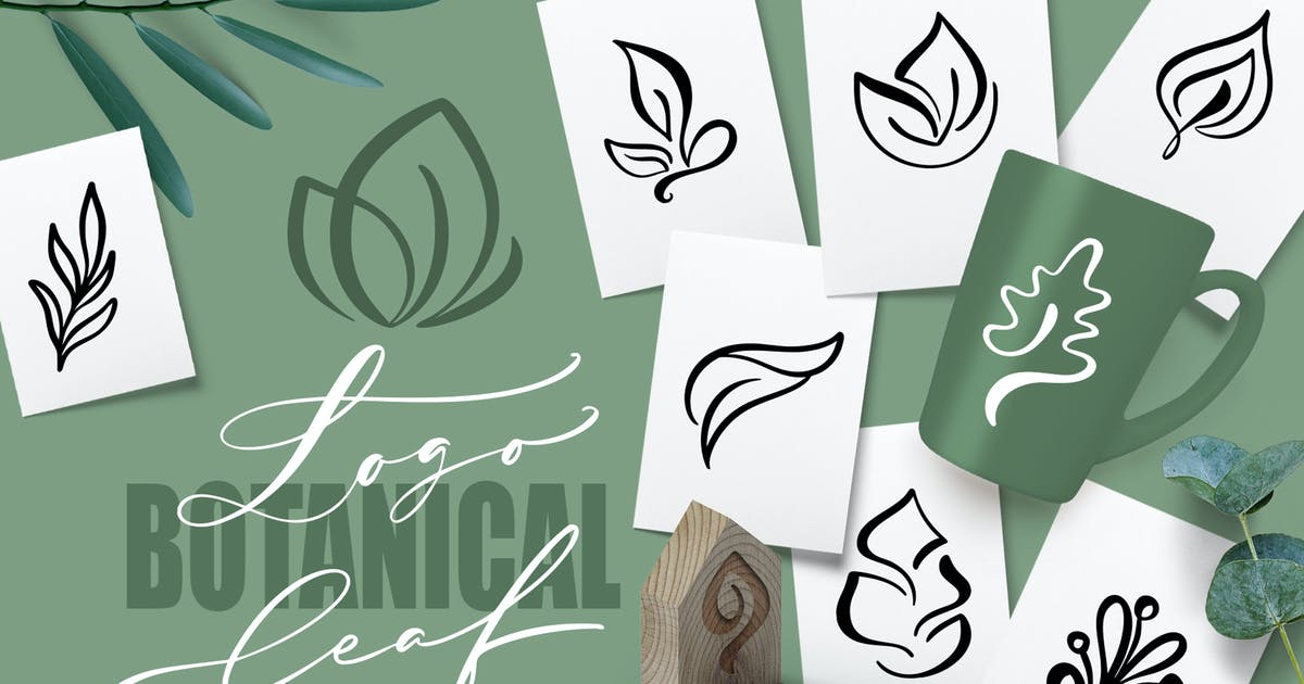 Download Logo Botanical Leaf SVG by timonko