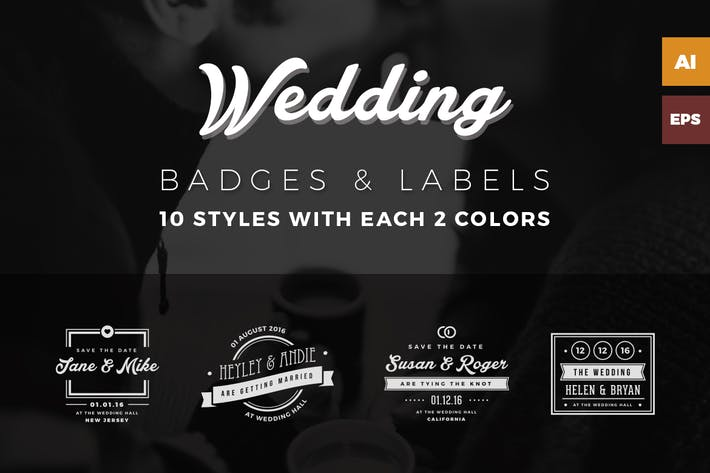 Thumbnail for Wedding Badges / Labels