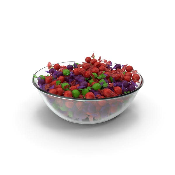 Bowl with Wrapped Spherical Candy